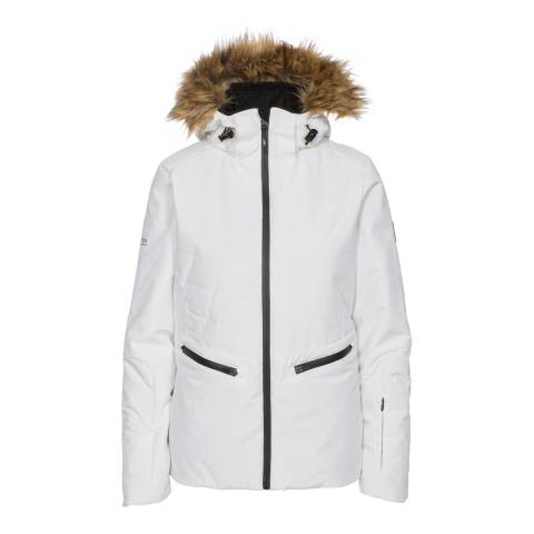 Trespass White Poise Waterproof Ski Jacket