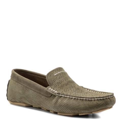 UGG Green Henrick Stripe Perf Loafer