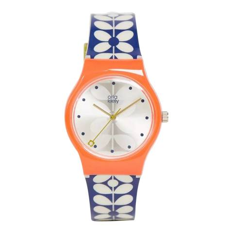 Orla Kiely Orange Blue Bobby Watch