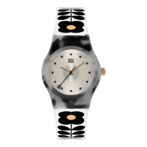 Orla Kiely Monochrome Tortoise Plastic Strap Watch
