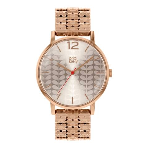 Orla Kiely Rose Gold Classic Watch