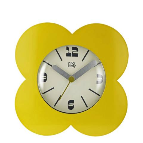 Orla Kiely Dandelion Yellow Flower Alarm Clock