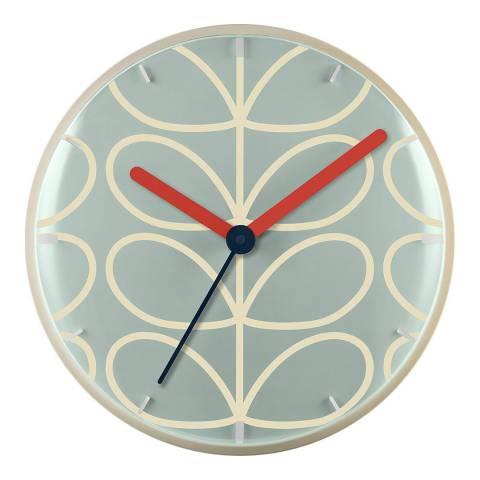Orla Kiely Sky Blue Wall Clock