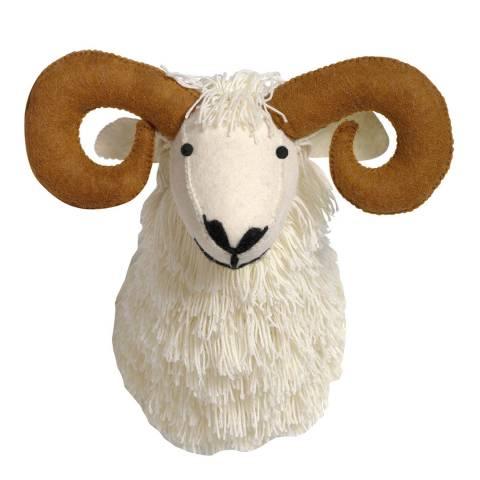 Mr. Fox Multi Goat Felt Wool Head
