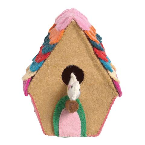 Mr. Fox Multi Birdie Home Wool Felt Deco