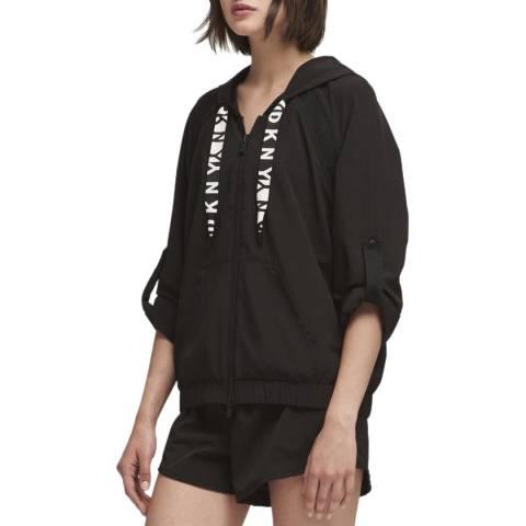 DKNY Black Boxy Roll Cuff Sweatshirt