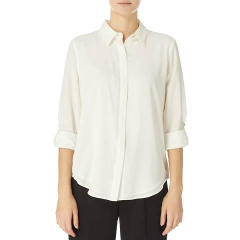 DKNY Ivory Foundation Roll Up Shirt