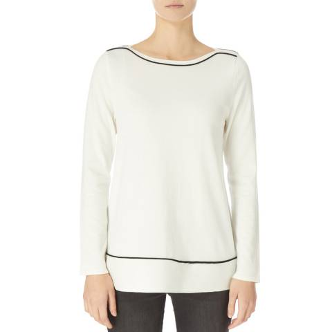 DKNY Ivory Long Sleeve Trapeze Sweater
