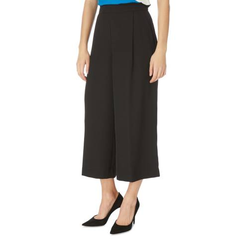 DKNY Black Wide Leg Cropped Trouser