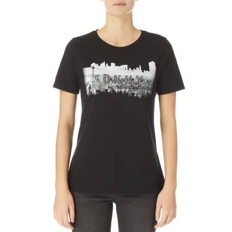 DKNY Black Short Sleeve Knit T- Shirt