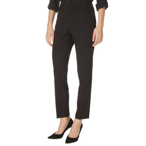 DKNY Black Pinstriped Straight Leg Trousers
