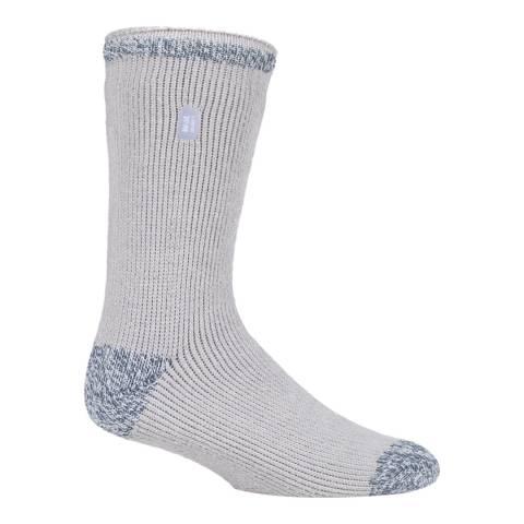 Heat Holders Light Grey Mens Twist Heel And Toe Socks