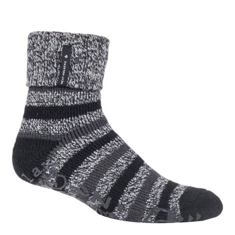 Heat Holders Grey/Black 1 Pair Mens Whittaker 'Chill' Lounge Socks