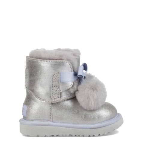 UGG Kid's Silver Metallic Gita Boot
