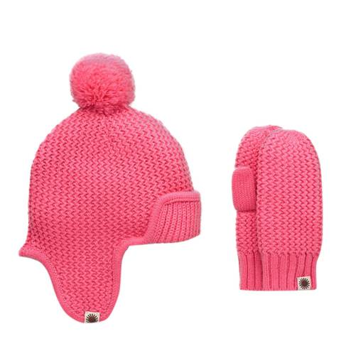 UGG Kid's Trapper Hat / Mitten Gift Set