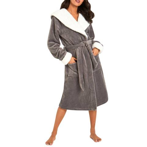 Chelsea Peers Grey Fluffy Dressing Gown