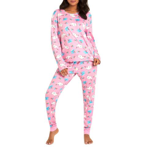 Chelsea Peers Pink Unicorn Icecream Long PJ Set