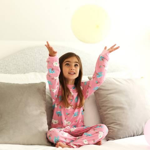 Chelsea Peers Pink Mini Me: Unicorn Dreams Long PJ Set