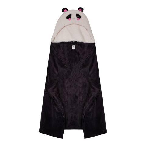Chelsea Peers Black Panda Snuggles Blanket