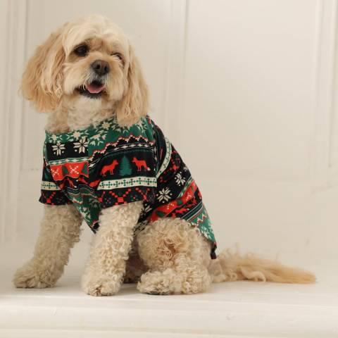 Chelsea Peers Black Foxy Fairisle Pj Set For Dogs