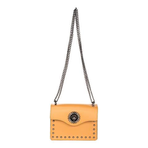 Giulia Massari Cognac Leather Crossbody Bag