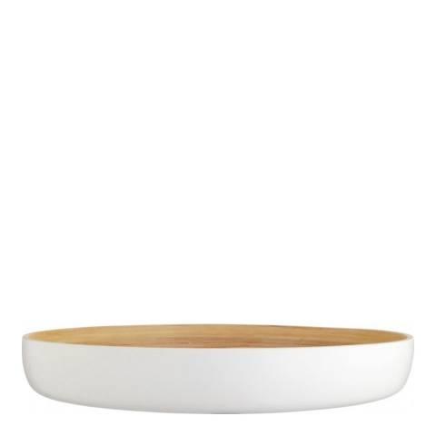 Habitat Emiko White Bamboo Shallow Bowl, 40cm