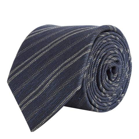 Reiss Navy Fleur Tie