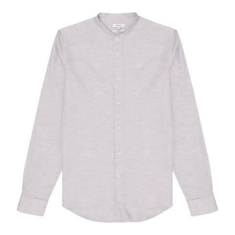 Reiss Grey Bradley Grandad Shirt
