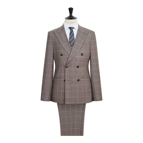 Reiss Brown Belvedere Wool Slim Suit