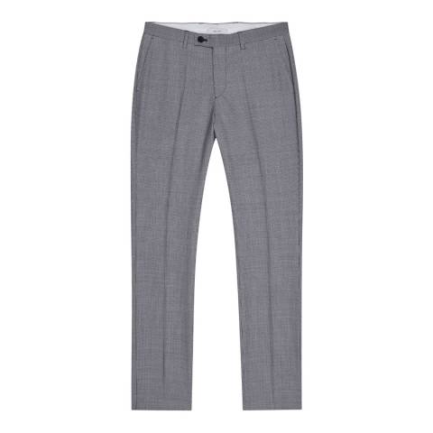 Reiss Blue Wangle Slim Puppytooth Trousers