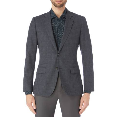 Reiss Charcoal Bronson Check Suit Jacket
