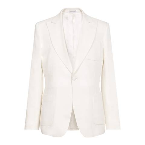 Reiss White Sereno Slim Blazer
