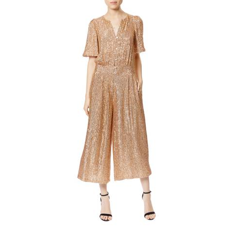 Temperley London Rust Cropped Olina Jumpsuit