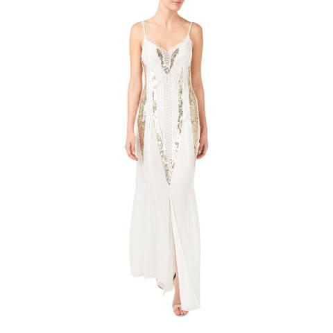 Temperley London White Moondrop Silk Insert Dress