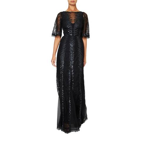 Temperley London Black Panther Lace Dress