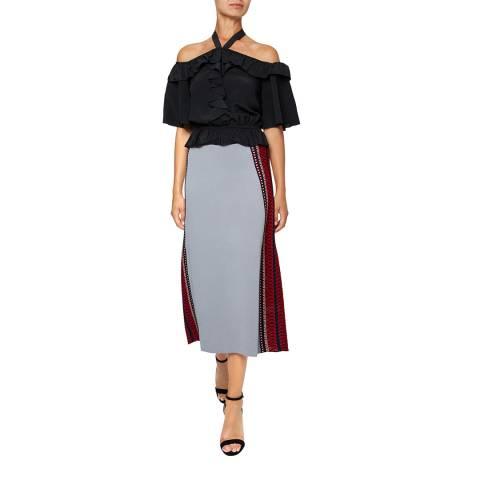 Temperley London Grey Sydney Knit Skirt