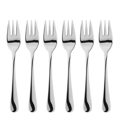 Judge 6 Piece Windsor Stainless Steel Cake Fork Set