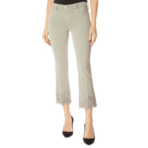 J Brand Beige Selena Bootcut Stretch Jeans