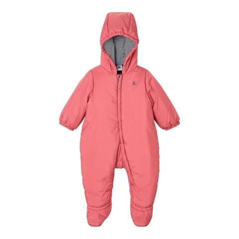Petit Bateau Pink Babies Snowsuit