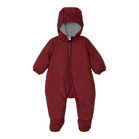 Petit Bateau Red Babies Snowsuit