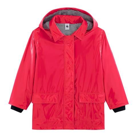 Petit Bateau Red Gloss Raincoat