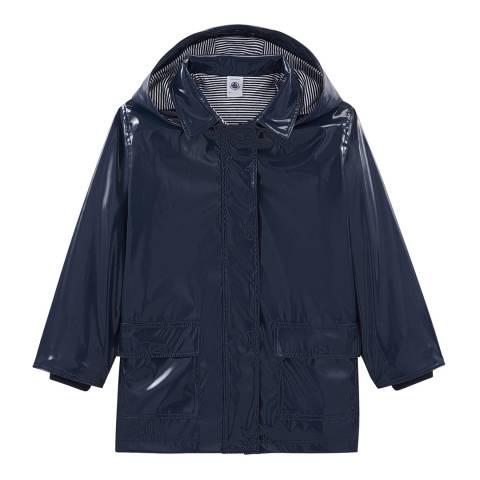 Petit Bateau Navy Gloss Raincoat