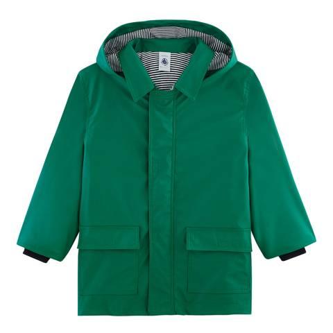 Petit Bateau Green Raincoat