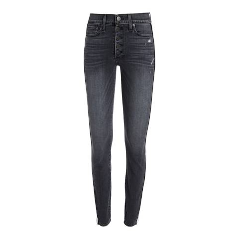 Alice + Olivia Charcoal Good Exposed Jeans