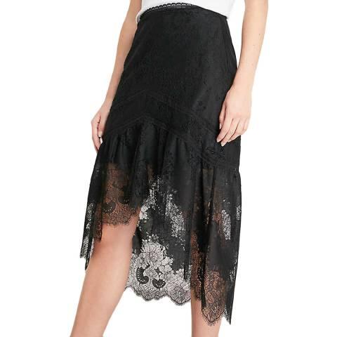 Alice + Olivia Black Triss A-line Skirt
