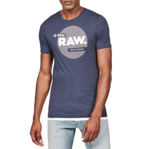 G-Star Blue Circle Logo Slim T-Shirt
