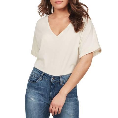 G-Star Cream Joosa V-Neck T-Shirt