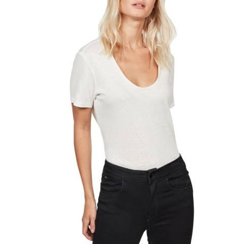 G-Star White Deep Scoop T-Shirt