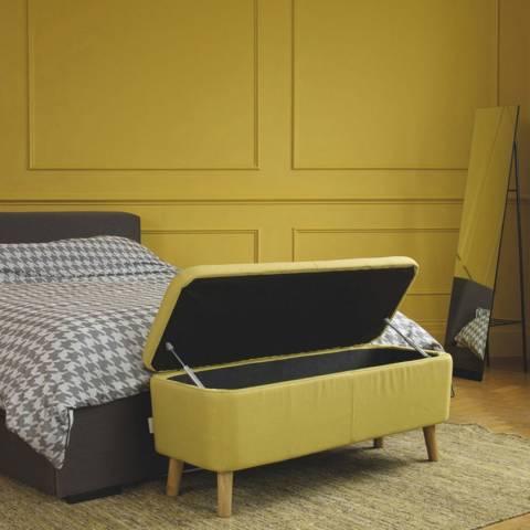 Habitat Jacobs Saffron Fabric Upholstered Storage Bench