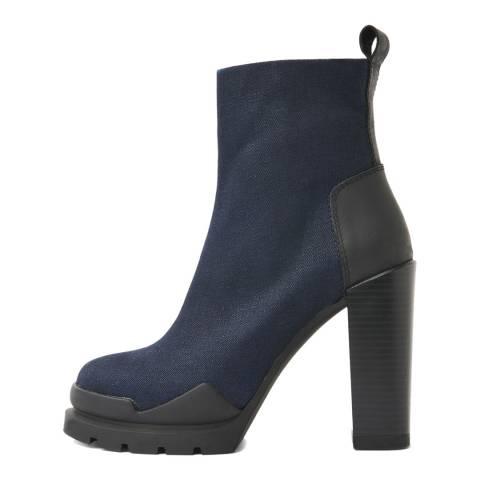 G-Star Navy Rackam Heel Boots